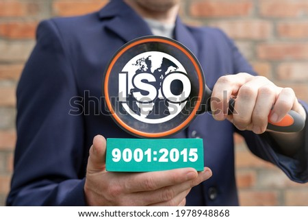 Concept of ISO 9001:2015. ISO 9001 2015 Standards Quality Set. Quality management systems. Requirements.