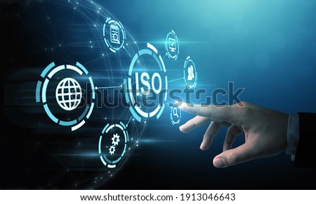 Concept of ISO standards quality control assurance warranty business technology