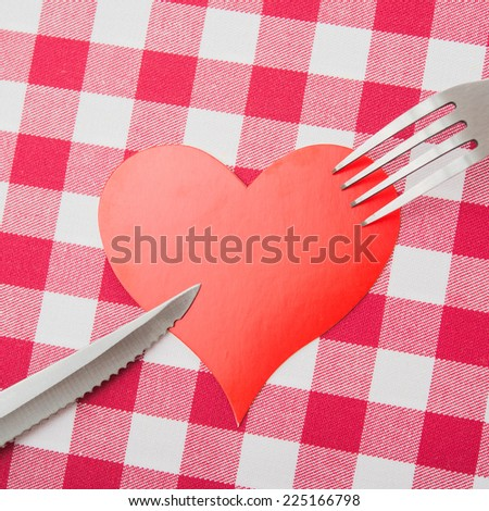 concept of love to kitchen work