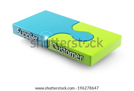 concept of matching between customer and supplier as two pieces of a puzzle