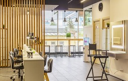 Concept of modern interior design for hairdressers and nail artists