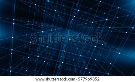 Concept of Network, internet communication, Big Data. Technology background. 3d illustration
