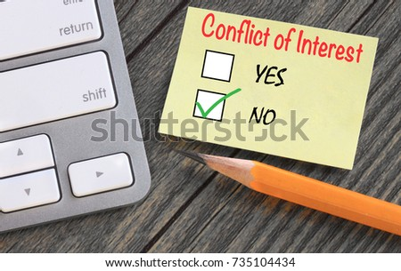 concept of no conflict of interest  #735104434