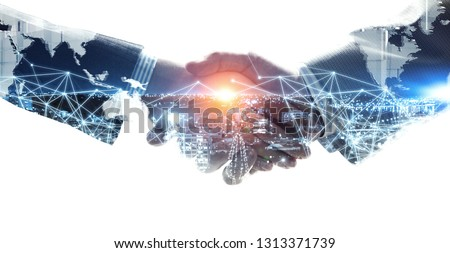 Concept of partnership and social connection #1313371739