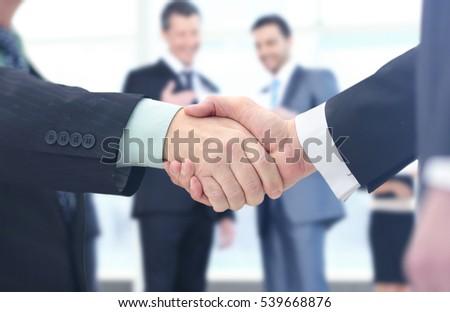 Concept of partnership - handshake  business partners - Shutterstock ID 539668876