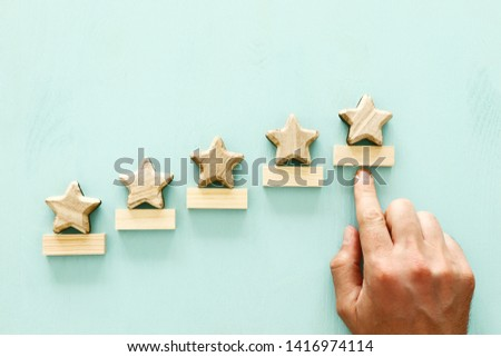 concept of setting a five star goal. increase rating or ranking, evaluation and classification idea #1416974114