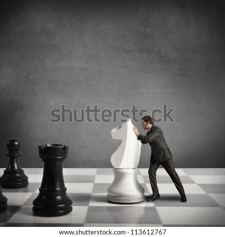 Concept of Strategy of a businessman
