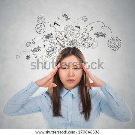 Concept of stress with businesswoman