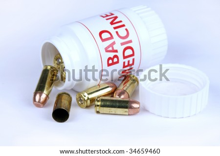 Concept of suicide and drug addiction with medicine bottle