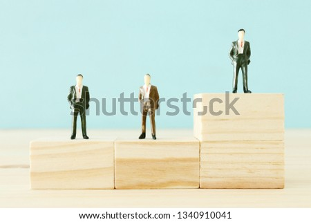 Concept of team leader, standing out from the crowd