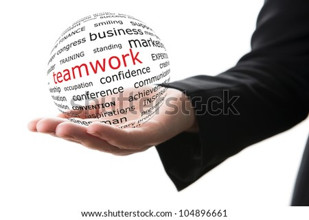 Concept of teamwork in business - stock photo