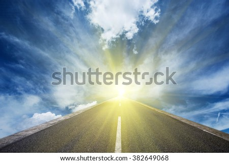 Concept of the road for the success #382649068
