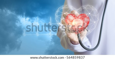 Concept of the technology of diagnostics of heart.