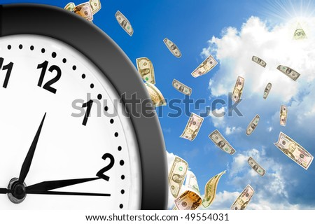 Concept of time is money.  Welcome! More similar images available.