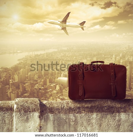 concept of travel by airplane