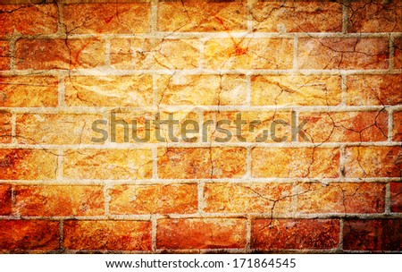 concept old brick wall with cracks blackground