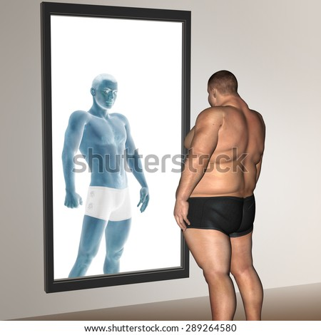 Concept or conceptual 3D fat overweight vs slim fit diet with muscles young man isolated on background, metaphor weight loss, body, fitness, fatness, obesity, health, healthy, male, dieting or shape
