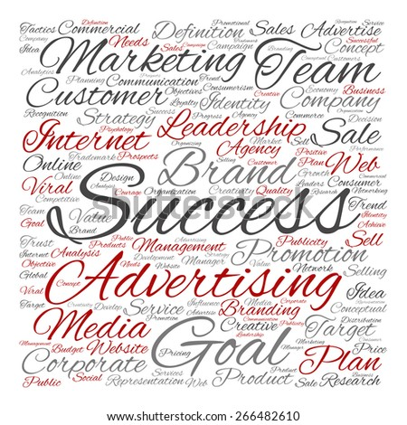 Concept or conceptual text word cloud isolated on background, metaphor to advertising, business, company, growth, corporate, identity, innovation, media, management, market, sale or trend value