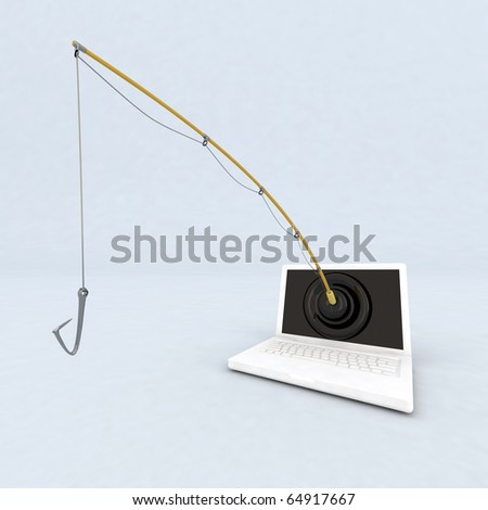 concept phishing - stock photo