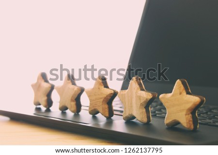concept photo of setting a five star goal. increase rating or ranking, evaluation and classification idea #1262137795