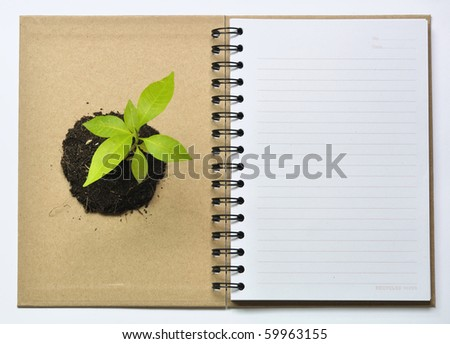 Concept picture of recycle notebook for save environment