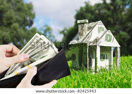 Concept picture on money for new housing