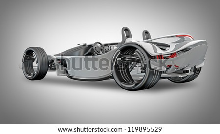 Concept sport car (roadster) (No trademark. This car is my own design) High resolution 3d render