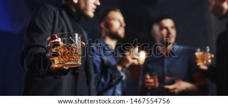 Conception of nightlife. People have fun in the club. With alcohol in hands. #1467554756