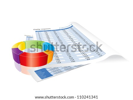 Conceptual business earnings reports and charts. Editable format in portfolio.