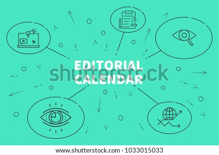 Conceptual business illustration with the words editorial calendar