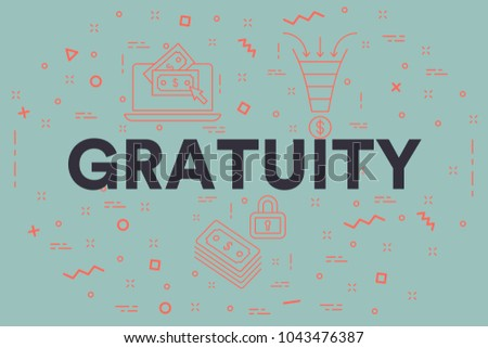 Conceptual business illustration with the words gratuity Сток-фото ©