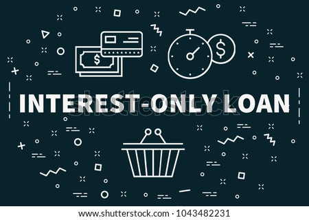 Conceptual business illustration with the words interest-only loan