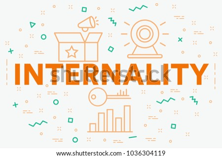 Conceptual business illustration with the words internality