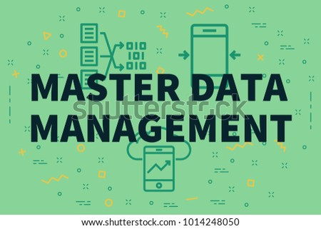 Conceptual business illustration with the words master data management Foto d'archivio ©