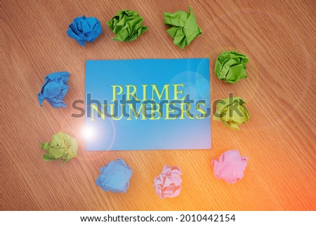 Conceptual caption Prime Numbers. Business overview a positive integer containing factors of one and itself Colorful Crumpled Papers Circular Pattern Surrounding Heart Shaped Card. Stock fotó ©