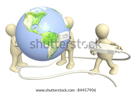 Conceptual 3d image - global communication