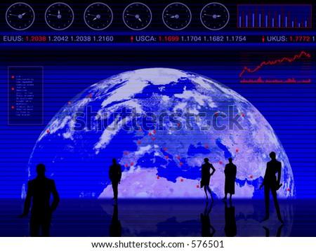 Conceptual design: business, trading, market, global, stock