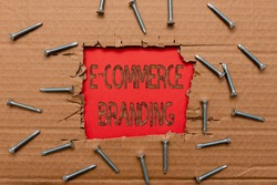 Conceptual display E Commerce Branding. Concept meaning establish an image of your company in ycustomers eyes Smart Office Plans Construction Development And Planning Fresh Start