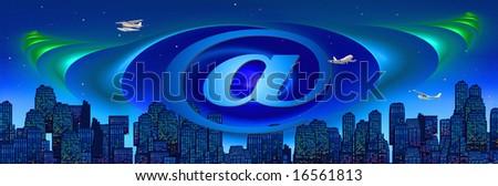 conceptual graphic internet/travel/business header/banner