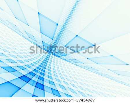 Conceptual grid of hi-res shapes on the subject of light, space, technology, energy and movement.