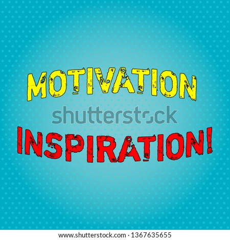 Conceptual hand writing showing Motivation Inspiration. Business photo text ability to change the way we feel about life Light Beam Glowing on Seamless Blue Pastel Shade Tiny Polka Dots.