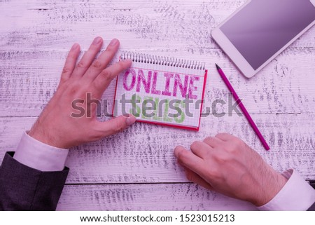 Conceptual hand writing showing Online Sells. Business photo text sellers directly sell goods or services over the Internet.