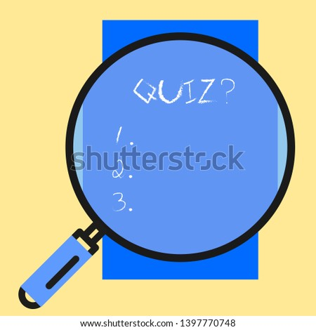 Conceptual hand writing showing Quiz Question. Business photo text test of knowledge as competition between individuals or teams.
