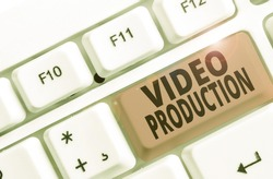 Conceptual hand writing showing Video Production. Business photo showcasing process of converting an idea into a video Filmaking.