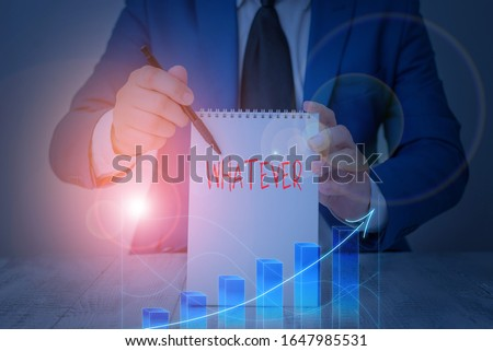 Conceptual hand writing showing Whatever. Business photo showcasing used to emphasize a lack of restriction in referring to anything.