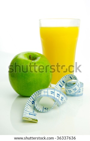 Conceptual health and diet image isolated against a white background #36337636