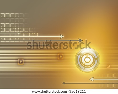 Conceptual high technology background. Digital illustration