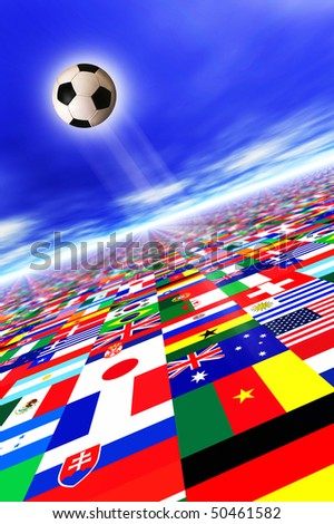 conceptual illustration for FIFA soccer world cup 2010