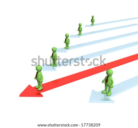 Conceptual image - a position of the leader