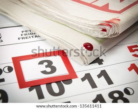 Conceptual image about an international holiday known as World press Day.